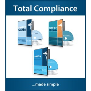 Total COMPLIANCE<br>HIPAA OSHA and HR<br>Save over $400.00!!
