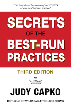 <c> Secrets of The Best-Run Practices<br>3rd Edition</c> By Judy Capko